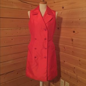 Isaac Mizrahi Bright Orange Dress Size 10